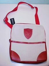 Ferrari Formula 1 Club Messenger Bag Pocket Book_Canvas_Red Leather_ITALY OEM