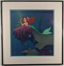 """Disney """"He Loves Me"""" FRAMED Sericel The Little Mermaid Ariel Sebastian Sold Out"""