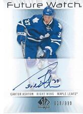 2012-13 Sp Authentic Future Watch CARTER ASHTON 028/999 #234 Autograph Rookie