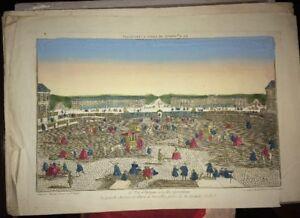 VERSAILLES. GRANDE AVENUE DE PARIS (VUE D'OPTIQUE FIN XVIIIéme).