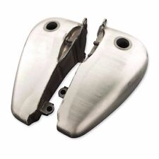 5 Gallon Flatside Fat Bob Fuel Split Gas Tank Set Evo 1984-1999 Harley Softail