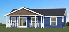 36x24 House -- 2 Bedroom 1 Bath -- 864 sq ft -- PDF Floor Plan -- Model 2C