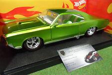 PONTIAC GTO de 1966 vert à l'échelle 1/18 HOT WHEELS J2888 voiture miniature