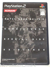 *Near Mint* PS2 METAL GEAR SOLID SUBSISTENCE SPECIAL DISC EXISTENCE Japan Import