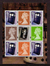GREAT BRITAIN 2013 DOCTOR WHO CROPPED DEFINITIVE PANE UNMOUNTED MINT.