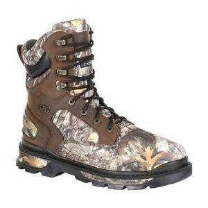 "ROCKY Rams Horn Mens 8"" 1000G Insulated Waterproof Outdoor Boot Camo RKS0416"