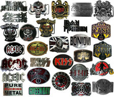 Buckle Band Rock Heavy Metal RocknRoll Gürtelschnalle Kiss ACDC Queen Motorhead