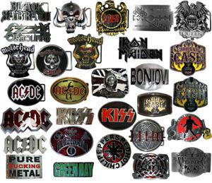 Buckle Band Rock Heavy Metal RocknRoll Gürtelschnalle Kiss ACDC Queen Motorhead
