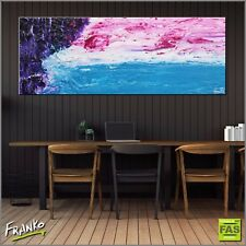 Textured Abstract Purple Pink Blue Painting Canvas 160cm x 60cm Franko Australia