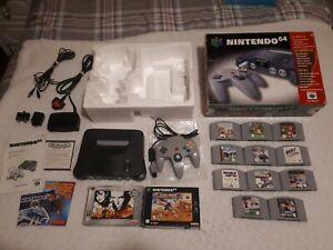 Nintendo 64 Bundle, Console with Games. Boxed, complete and with 13 Games. PAL