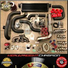 Red 92-00 Civic Eg Ek/Ej DelSol Sohc D15 D16 Sqv Bolt-On Turbo Kit T3/T4 Keep Ac