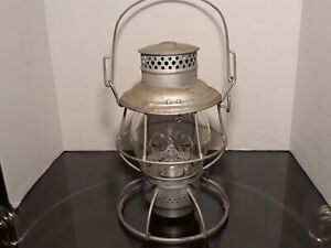 B & O Safety First Embossed Globe 1913 Adlake Railroad Lantern