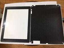Apple New iPad (3rd/4th Gen)Carbon Fiber Texture Skin- (BLACK)