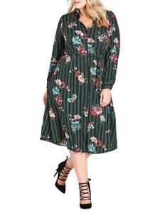 CITY CHIC XS 14 NWT RRP $129.95 DRESS FLOWER CLASS
