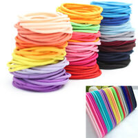 10pcs Women Girl Elastic Hair Bands Black Bobbles Band Ela Ullm Ponytail Sc