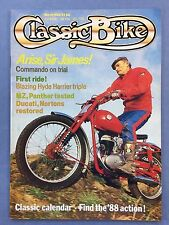 CLASSIC BIKE March 1988 - 600cc Panther Model 100 - 500cc Matchless Metisse G50