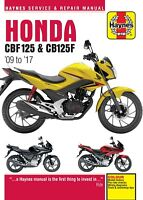 Haynes Manual 5540 - Honda CBF125 & CB125F (09 - 17) workshop, service & repair