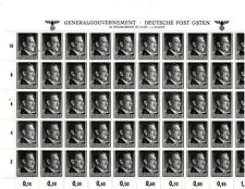 GERMANY: NICE  'GENERAL GOVERNMENT' POLAND  MINT NH FULL SHEET SEE SCANS