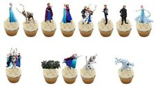 13  Frozen STAND UP Edible Cupcake Cake Topper Edible Decorations Anna Elsa Olaf