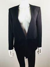 FAITH CONNEXION Black Button Front Blazer Suit Jacket Size 42