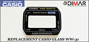 Replacement Casio Original Glass/ Glass WW-31, NOS
