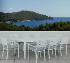 9 Piece Aluminium Outdoor Dining setting Table Patio furniture set