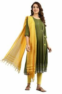 Yarn-dyed Tie-up Kurta - Wood Pine