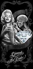 David Gonzales Art Dga Diamonds Are Forever Monroe Pretty 30X60 Beach Towel