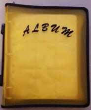 Album classeur jaune à fermeture pour rangement cartes POKEMON DBZ YU-GI-OH