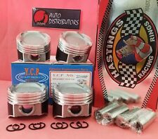 YCP 75.5mm Vitara Pistons Teflon Coated Low Comp + Racing Rings Honda D16 Turbo