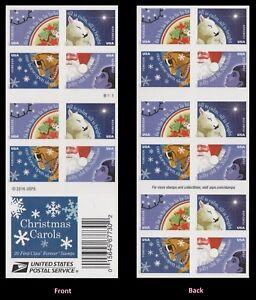 US 5250b Christmas Carols forever booklet (20 stamps) MNH 2017
