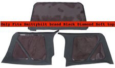 97-06 Jeep Wrangler (only fits) Smittybilt Soft Top 3 Rear Tinted Windows Black