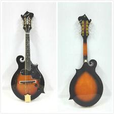 Caraya F-shape Electric Mandolin,Vintage Sunburst,,F-holes+Free Bag. SMA-008EQVS