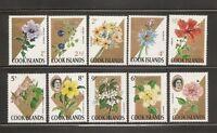Cook Islands Flowers ,Queen Elizabeth II. 10 Values. MNH
