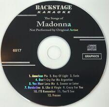 BACKSTAGE KARAOKE MADONNA CD+G 12 TRACKS VOLUME 6517