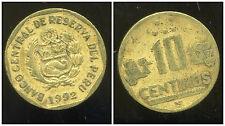 PEROU  10  centimos  1992