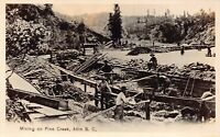 Real Photo Postcard Mining Pine Creek in Atlin, British Columbia, Canada~128385