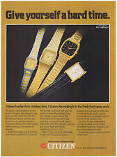 Original 1982 Citizen PermaBright Watches Vintage Print Ad