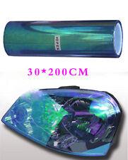 Colorful Blue 200x30cm Car Driving Light Headlight Vinyl Tint Film Sheet Sticker