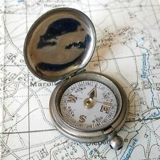 WW1 BRITISH 1918 TERRASSE CO POCKET COMPASS, MILITARY WAR ARMY SOLDIER OFFICERS
