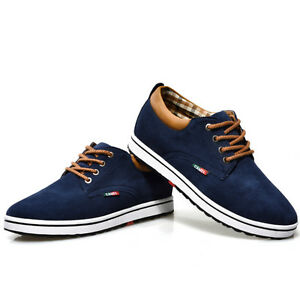 Fashion Men Suede Leather Increased Within 5.5cm Sneaker Casual Elevator Shoes
