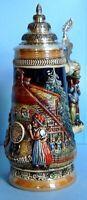 Black Forest Cuckoo Clock Peddler LE German Stein  .5L