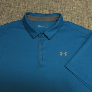 UNDER ARMOUR HEAT GEAR POLY GOLF SHIRT--2XL--WRINKLE FREE--TOP SPOTLESS QUALITY!