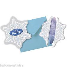 6 Disney's FROZEN Ice Skating Children's Party Invitations plus Envelopes