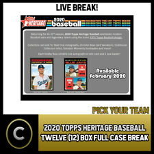 2020 TOPPS HERITAGE BASEBALL 12 BOX (FULL CASE) BREAK #A712 - PICK YOUR TEAM