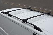 Black Cross Bars For Roof Rails To Fit Fiat Doblo (2010+) 100KG Lockable