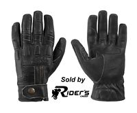 IXS Kelvin Men's Motorcycle Gloves Leather - Antique Black & Antique Brown