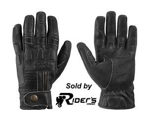 IXS Kelvin Men's Motorcycle Gloves Leather - Antique Black & Antique Brown