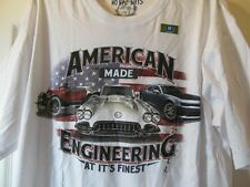 NWT Men's NO BAD DAYS GM AMERICANA CLASSIC CAR THEME GRAPHIC T-SHIRT sz Large