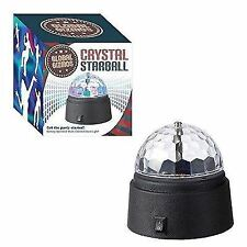 Global Gizmos Battery Operated Crystal Star Ball Disco Light multi coloured New